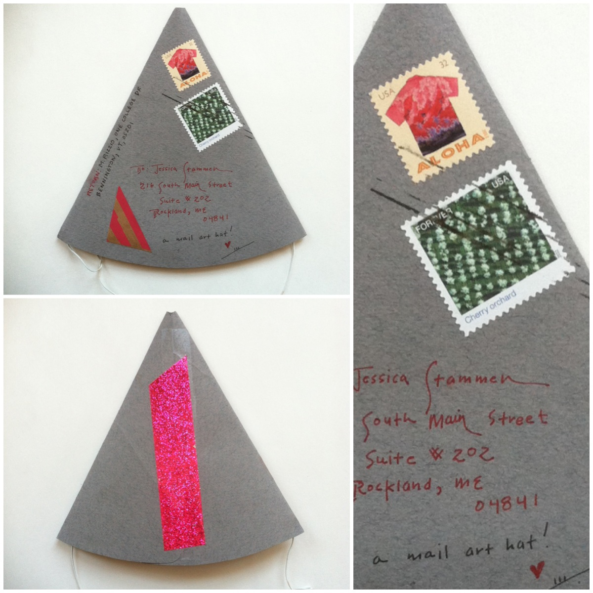 Mail Art Hat!