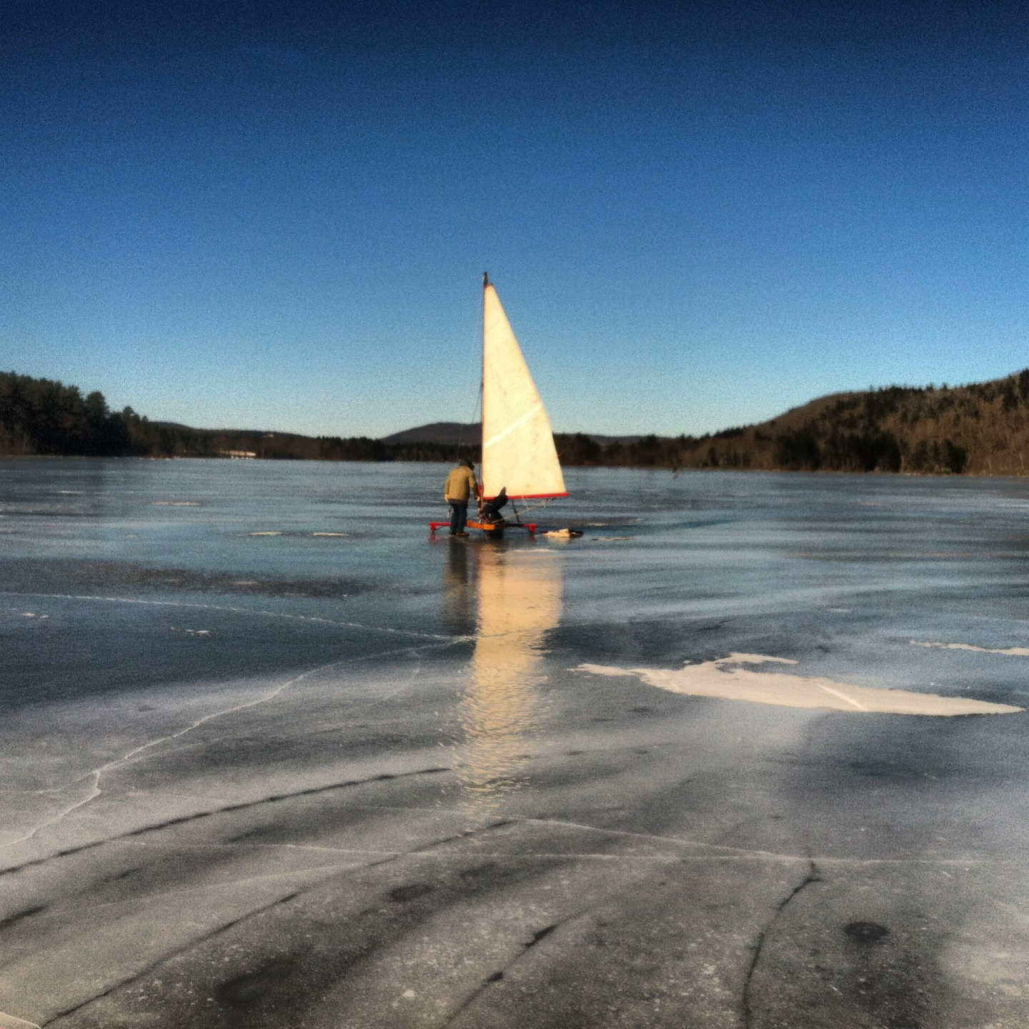 Ice boating the other day