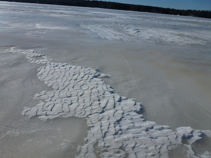 Snow patterns on Toddy Pond