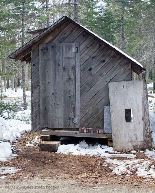 Maine sugar house or sugar shack for making maple syrup
