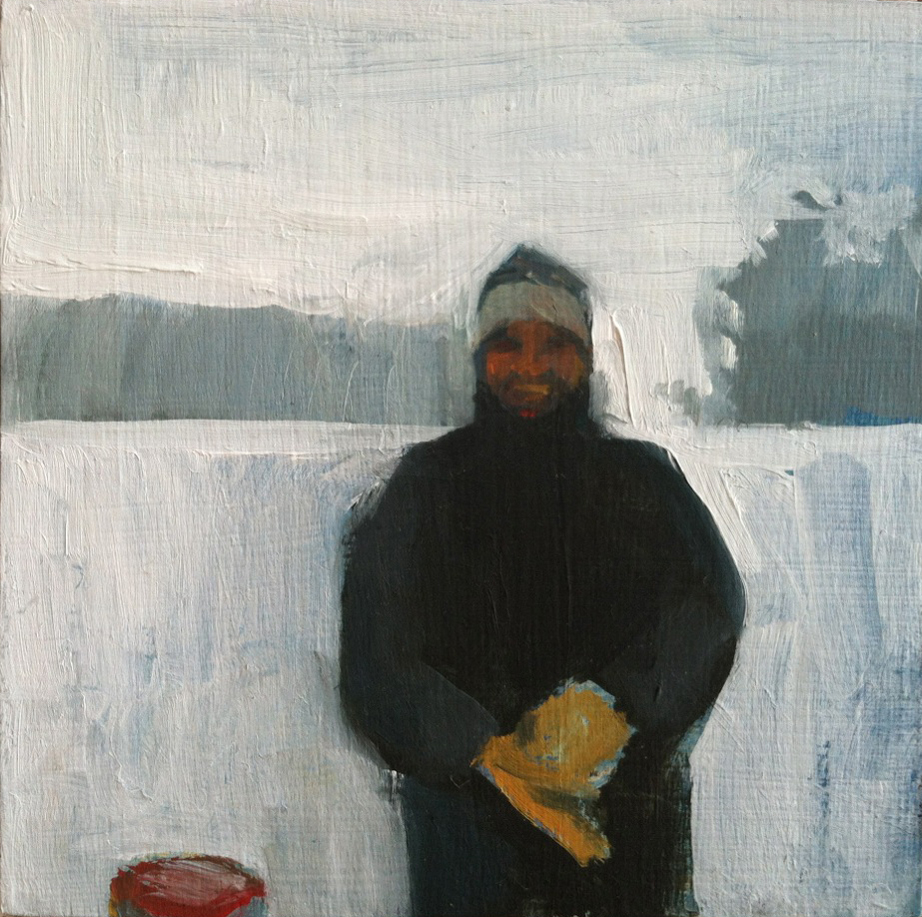 Dad And His Mittens // oil on panel // 6 x 6 inches // 2013