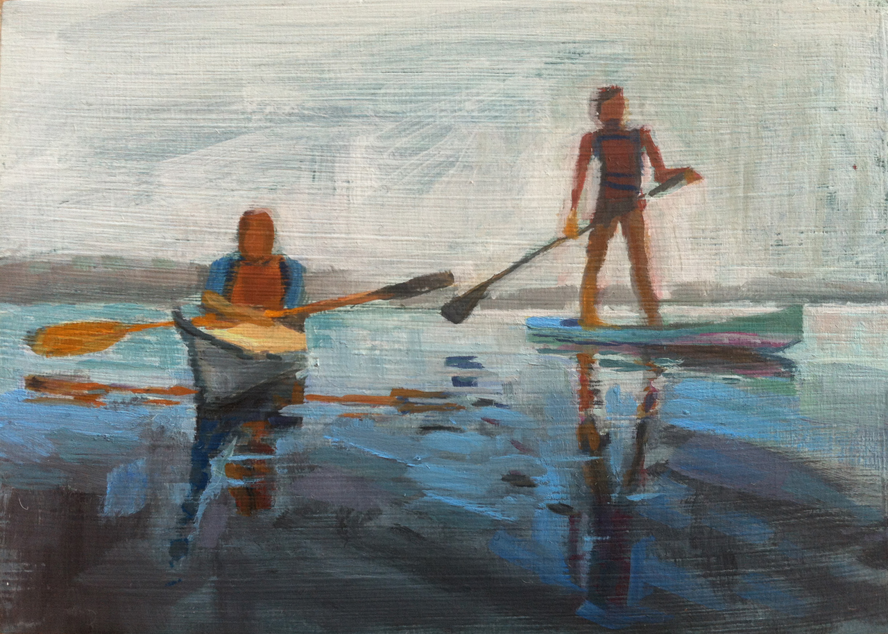 Paddlers // oil on panel // 5 x 7 inches