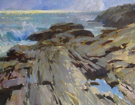 Overcast Pemaquid, oil on canvas, 28x36 inches