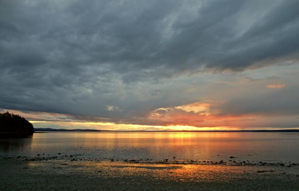 Sunset, Wadsworth Cove, 4/14/13