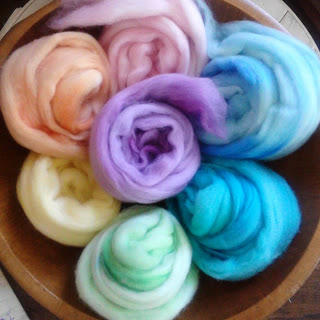 Pastel Rainbow Merino Wool Spinners Pack by OnTheRound