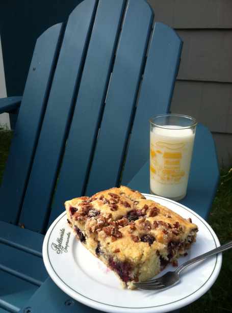 Maine Blueberry Pecan Coffee Cake