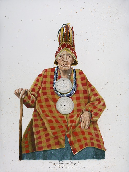 "Wabanaki - Mary Pelagi Nicola, ""Molly Molasses"", Penobscot, 2014"