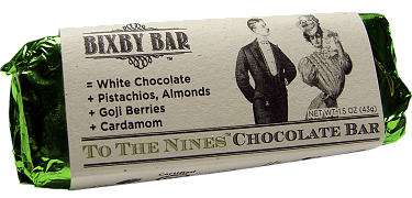 To The Nines white chocolate bar by Bixby & Co.