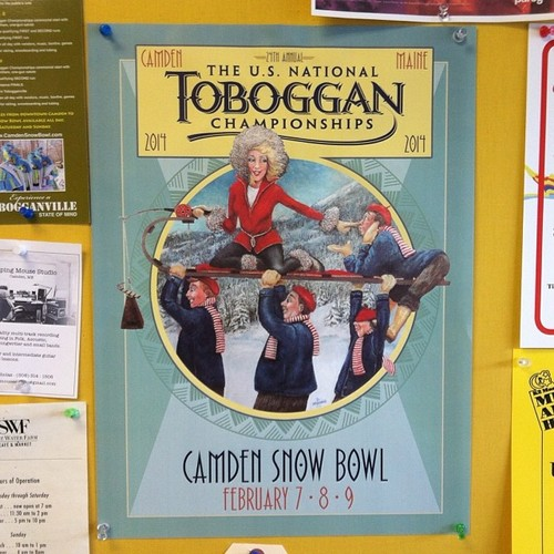 Loving this year's poster for the National Toboggan Championships.