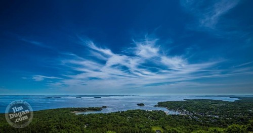 The view from Mt. Battie Sunday.