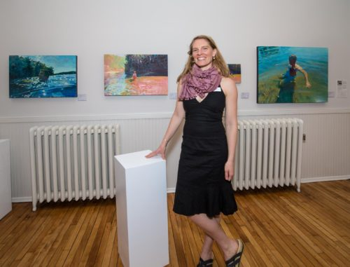 Jessica Ives is showing her paintings at the Courthouse Gallery, Ellsworth